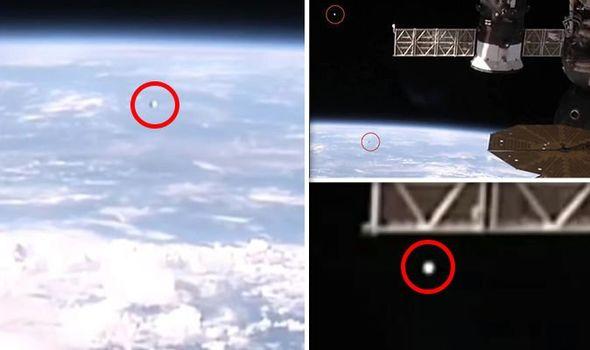 Stream della ISS registra due UFO nello spazio