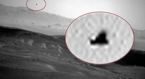 Anomalia alata 'Bird' catturata da Curiosity su Marte